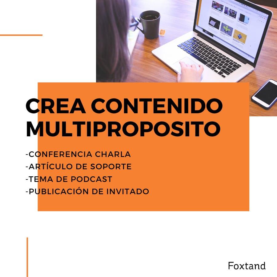 crea contenido multiproposito
