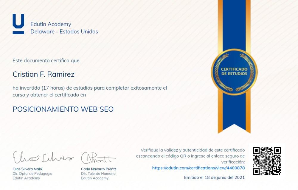 Certificado SEO