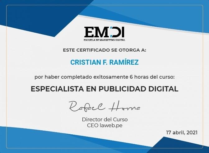 ESPECIALISTA EN PUBLICIDAD DIGITAL